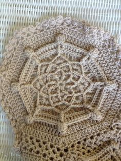Handmade crochet afghan in tan khaki . by SimplySouthernCroche