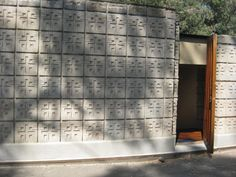 La Miniatura/ Millard House. 1923. Pasadena, California. Textile Block Period. Frank Lloyd Wright. Photo Jodi Summers