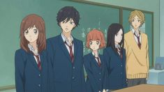 Ao haru ride - The gang ; Manga Anime, Otaku Anime, Miraculous, Futaba Y Kou, Ao Haru, Blue Springs Ride, Anime Friendship, My Little Monster, Cute Couple Art