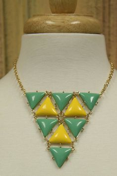 Turquoise and Yellow Necklace