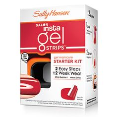 Salon Insta-Gel Strips Starter Kit. I'll never have to see the inside of a nail salon for a manicure again!