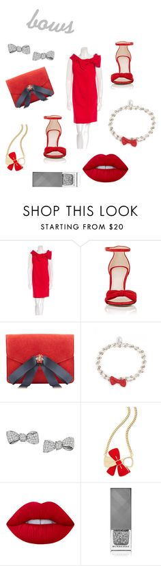 """Put A Bow On It"" by etsyshopgirl ❤ liked on Polyvore featuring Valentino, Barneys New York, MANGO, OSCAR Bijoux, Mimi So, Estée Lauder, Lime Crime and Burberry"