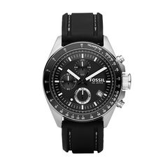 Fossil Decker Silicone Watch - Black el mio!!!!!