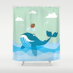 having a good time with my best friend Shower Curtain by mangulica - $68.00