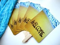 #DIY welcome #wedding fans