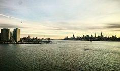 Sunrise at the Pier Hoboken (Jersey City). Good Morning to Manhattan... Photo by @selcenuyguntuzel  #newjersey #hoboken #manhattan #newyork #nyc #usa #travel #traveling #travelgram #wanderlust #instagood #instamood #instadaily #photooftheday #picoftheday #pictureoftheday #Sony #xperia #sunrise #sea #hudson #river #sun #morning