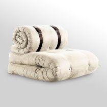 Buckle Up Sleeper chair with Brown Belt contemporary sofa beds Futon Chair Bed, Kids Recliner Chair, Sleeper Chair, Armless Chair, Sofa Beds, Bette Davis, Brown Belt, Black Belt, White Bunk Beds