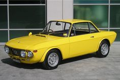 Lancia Fulvia Coupe, probably my most favourite car of all. Lancia Delta, Classic Sports Cars, Classic Cars, Swiss Cars, Maserati, Ferrari, Good Looking Cars, Spa, Yellow Car