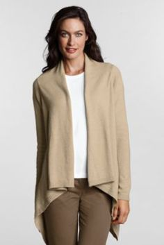 Women's Solid FeelGood Drape Cardigan Sweater from Lands' End    Great sale find!