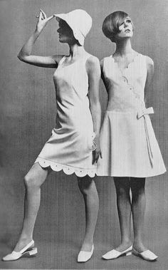 Mary Quant 60s-the hair style, the dress-that was me just not so beautiful.