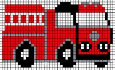 KleuterDigitaal - wb strijkkralen brandweerauto