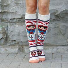 Nesting Doll Knee-High Socks
