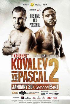 Boxing poster 2016 - Kovalev vs. Pascal II