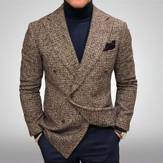 Gentleman Style 43839796357583971 - Sprezzatura-Eleganza Source by Mens Fashion Blazer, Suit Fashion, Style Fashion, Latest Fashion, Fashion Trends, Business Casual Jacket, Mode Bcbg, Checked Suit, Style Outfits