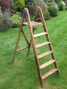 1950's wooden step ladder Stage Crew, Ladders, Ladder Decor, Cool Stuff, Stove, Vintage, Home Decor, Scaffolding, Rustic Furniture