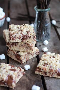 Brown Butter Vanilla Bean and Nutella Swirled Rice Krispie Treats | halfbakedharvest.com