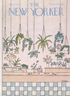 Robert Tallon : Cover art for The New Yorker 2711 - 31 January 1977 The New Yorker, New Yorker Covers, Poster Wall, Room Posters, Poster Prints, Photo Wall Collage, Collage Art, Fleur Design, Posca Art