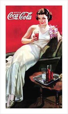 50's Coke pin-up