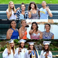 Pictures with my best friends thoughout senior year (graduation, senior, high school, girls, prom) this needs to be done with all my friends same order and everything