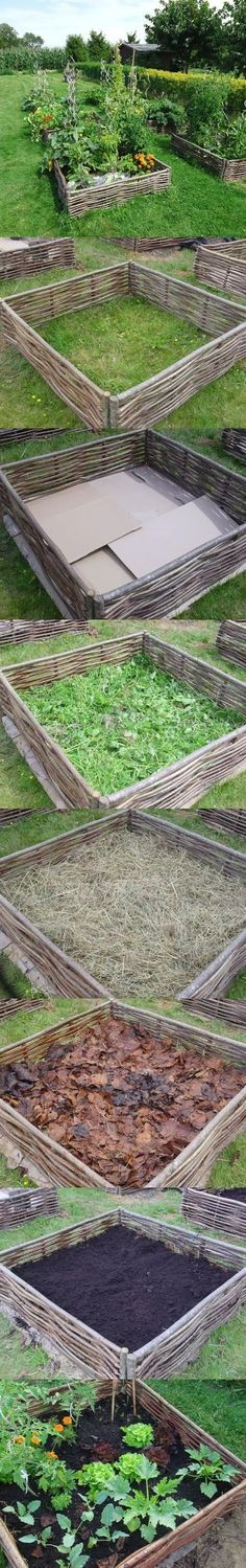 how to layer raised garden beds ~ layer raised garden bed . how to layer raised garden beds . how to layer a raised garden bed . how to layer your raised garden bed . Raised Garden Beds, Raised Beds, Raised Gardens, The Secret Garden, Garden Posts, Plantation, Dream Garden, Garden Planning, Garden Projects