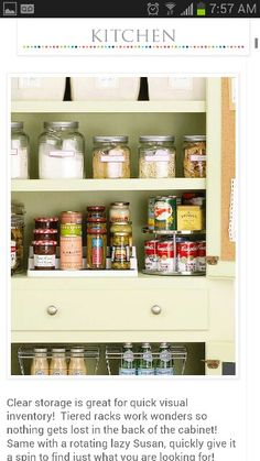 Pantry And Cabinet Kitchen Organization Storage Tips . Pantry Cabinet Organization And Printable Labels Kitchen . Blind Corner Pullout Solution CS SHM All Cabinet Parts - Amazing New Ideas Organization Station, Pantry Organization, Organized Pantry, Household Organization, Pantry Ideas, Bathroom Organization, Organize Your Life, Organizing Your Home, Organizing Ideas