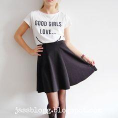 Jassblogg.blogspot.com 2 outfits with a skaterskirt!