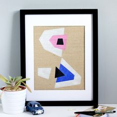 Learn how to make these modern art canvases with just a few simple materials.