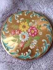 Vintage Enamel Painted Powder Compact