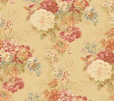 Waverly 5513032 20.5-Inch Wide Ballad Bouquet Wallpaper, Beige and Rose