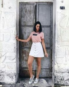 35 cool outfits that will make you look cool Tumblr Outfits, Mode Outfits, Skirt Outfits, Trendy Outfits, Fashion Outfits, Womens Fashion, Foto Casual, Outfit Goals, Street Style Looks