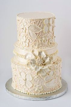 Nanny D's Specialty Cakes offers custom wedding cakes that are both scrumptious and beautifully designed as well as decadent cupcakes and cheesecakes! Luxury Wedding Cake, Floral Wedding Cakes, White Wedding Cakes, Wedding Cakes With Flowers, Elegant Wedding Cakes, Floral Cake, Beautiful Wedding Cakes, Wedding Cake Designs, Beautiful Cakes