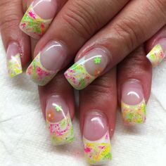 Gel marbled nails By Melissa Fox French Manicure Designs, Pretty Nail Designs, Pretty Nail Art, Colorful Nail Designs, Acrylic Nail Designs, Sexy Nails, Fancy Nails, Love Nails, Diamante Nails