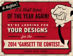 Calling all creative folks - 'Gansett's 7th Annual Father's Day Tie Design Contest is officially underway. Design the next tie and you could win cash or even beer. So what are you waiting for? Visit our blog for details and enter today. http://shar.es/IMjml