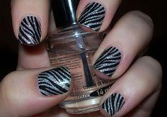 Fab-La-Icious Nails: Zebra Stipes Nail Wraps