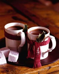 Warming drinks include apple-brandy hot toddies and mulled red wine. Plus more delicious warming drinks. Homemade Hot Chocolate, Hot Chocolate Bars, Hot Chocolate Recipes, Rum Recipes, Cinnamon Almonds, Hot Toddy, Christmas Cocktails, In Vino Veritas, Cocoa
