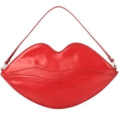 Charlotte Olympia Big Kiss clutch bag ($491) ❤ liked on Polyvore