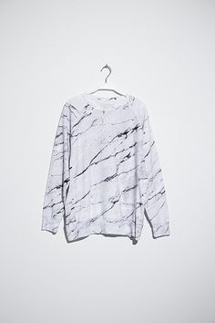 Soulland Faux Playtype — White Marble Sweatshirt