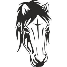 Sticker adhésif tête de cheval