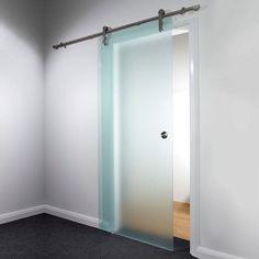 Door 840mm sand blasted glass satin finish