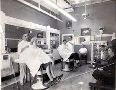 1950's barber shop | Barber Shop, Welch, WV, 1950s