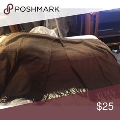 Brown Throw-over Brown shrug to throw over your shoulders. VERY warm! Definitely a winter essential Sweaters Shrugs & Ponchos
