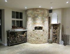 four bois le panyol install en intrieur habillage pierre naturelle angleterre - Four A Pizza Interieur