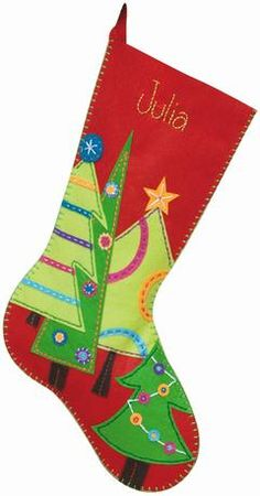 felt christmas stockings martha stewart | Dimensions Festive Tree Felt Applique Stocking Kit