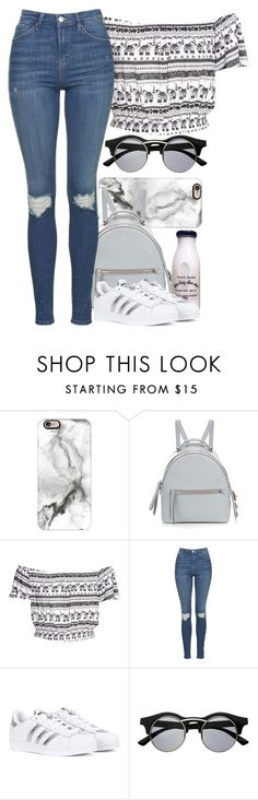 """Casual"" by eduardacardoso1999 ❤ liked on Polyvore featuring Casetify, Fendi, H&M, Topshop, adidas and Retrò"