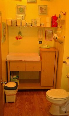 daycare bathroom / diaper area.....I am doing this in our daycare room bathroom!