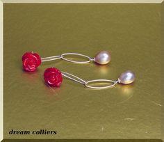 Ohrhänger - rote Rosen für das Ohr... - ein Designerstück von Dream-Colliers bei DaWanda