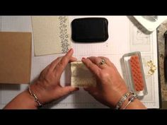▶ Stampin' Up! Video Tutorial Using Border Stamps Bordering Blooms Card - YouTube