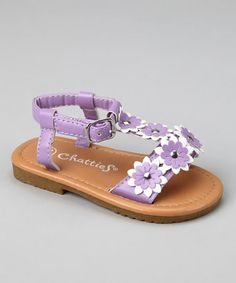 Take a look at this Lilac & White Floral Sandal by Hello Toes: Summer Sandals on #zulily today!