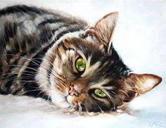 Custom Pet Portrait, Pet Oil Painting, 8x10, Animal Painting, Custom Cat Portrait. $80.00, via Etsy.