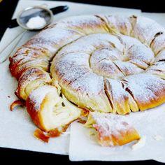 Traditional pastry from Spain: Ensaïmada de Mallorca.